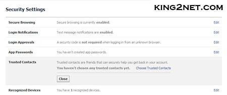 اموزش تصویری بازیابی رمز عبور فیس بوک به کمک دوستان قابل اعتماد