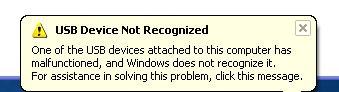 آموزش برطرف نمودن خطای USB Device Not Recognized