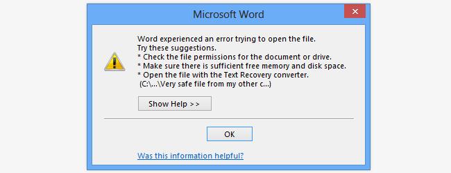 اموزش باز کردن فایل های مسدود شده در آفیس ۲۰۱۳