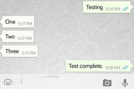 کنترل واتس اپ شما درصورت نمایش دو تیک ابی
