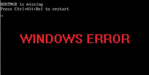 اموزش رفع خطای Bootmgr is missing در ویندوز ۷