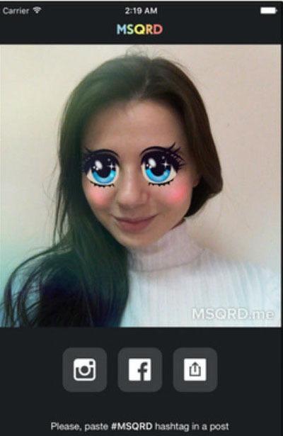 آموزش تصویری تغییر چهره کلیپ سلفی با برنامه MSQRD