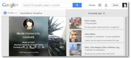 ۷ کلید میانبر صفحه کلید برای اطلاعیه های Google +